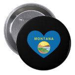 MONTANA HEART DESIGN -  .png 3 Inch Round Button