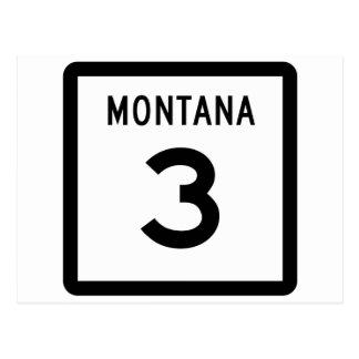 Montana Highway 3 Postcard