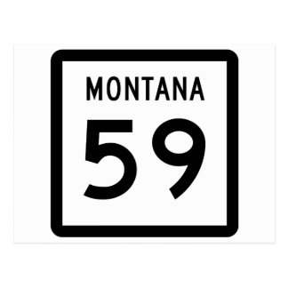 Montana Highway 59 Postcard