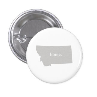 Montana home silhouette state map button