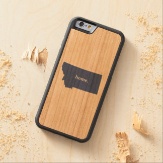 Montana home silhouette state map carved cherry iPhone 6 bumper case