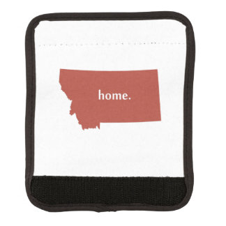 Montana home silhouette state map luggage handle wrap
