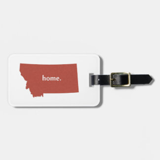 Montana home silhouette state map luggage tag