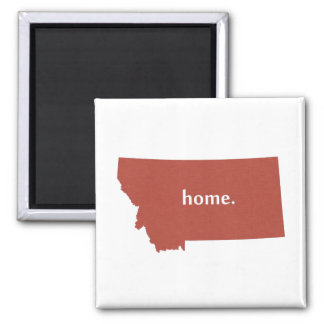 Montana home silhouette state map magnet