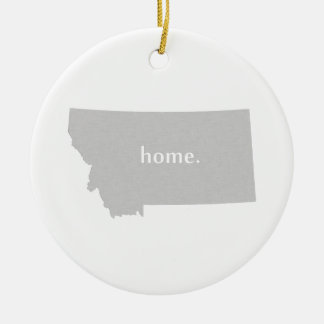 Montana home silhouette state map Double-Sided ceramic round christmas ornament