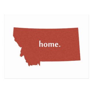 Montana home silhouette state map postcard