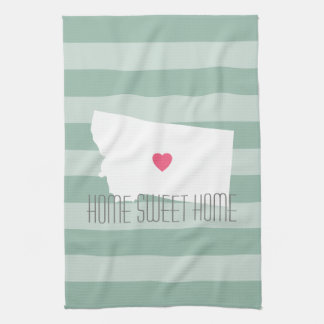 Montana Home State Love with Custom Heart Towel
