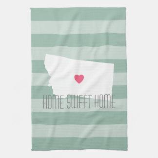 Montana Home State Love with Custom Heart Towel