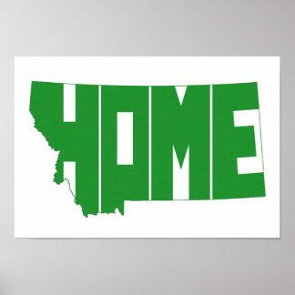 Montana Home State Poster