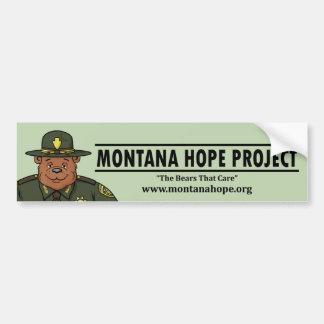 Montana Hope Project Bumper Sticker (teal) Car Bumper Sticker