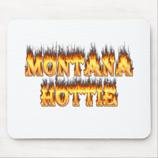 Montana hottie fire and flames mouse pad