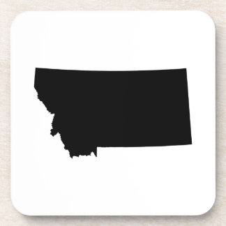 Montana in Black and White Beverage Coasters