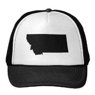 Montana in Black and White Trucker Hats