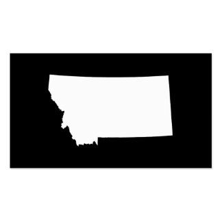 Montana in White and Black Double-Sided Standard Business Cards (Pack Of 100)