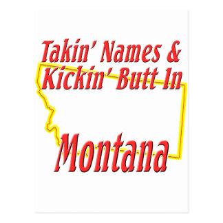 Montana - Kickin' Butt Postcard