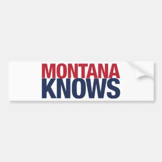 Montana Knows Bumper Sticker