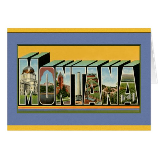 Montana Large Letter Greetings Greeting Card