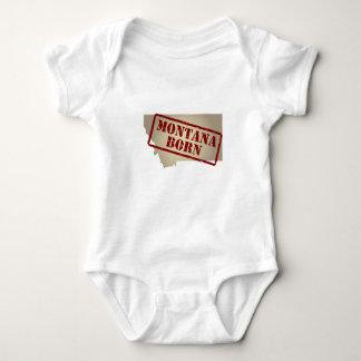 Montana llevado - sello en mapa mameluco de bebé