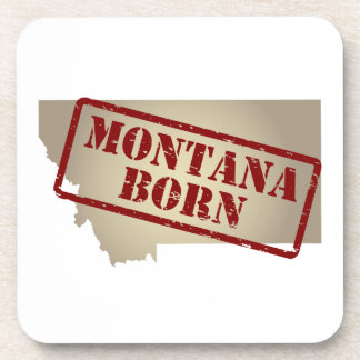 Montana llevado - sello en mapa posavasos