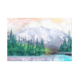 Montaña majestuosa impresiones de lienzo