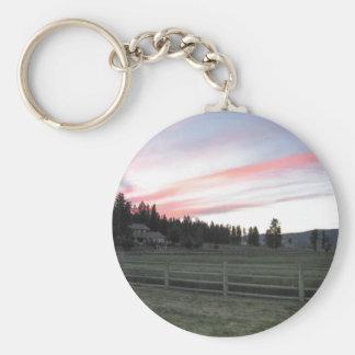 Montana Majesty Basic Round Button Keychain