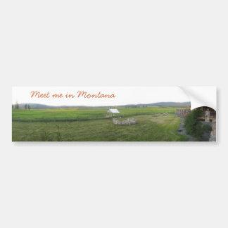 Montana Majesty_Meet yo en Montana Pegatina Para Auto