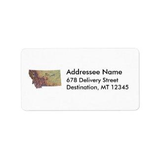 Montana Map Address Label