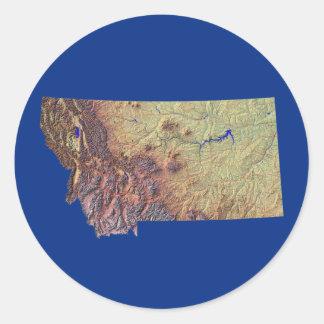 Montana Map Sticker