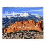 Montaña máxima de los lucios, Colorado Springs, CO Calendarios