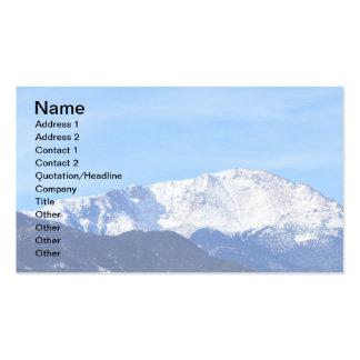 Montaña máxima de los lucios Colorado Springs Co Plantilla De Tarjeta De Visita
