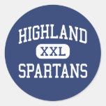 Montaña media Indiana de Spartans de la montaña Etiquetas Redondas