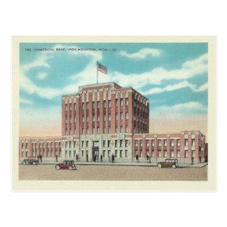 Montaña Michigan del hierro del vintage Tarjetas Postales