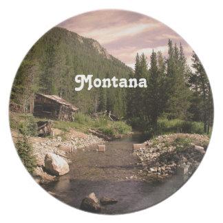 Montana Mining Dinner Plate