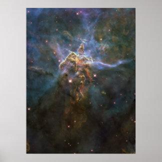 Montaña mística 18x24 póster