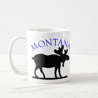 Montana Moose Classic White Coffee Mug