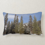 Montana Mountain Trails in Winter Landscape Photo Lumbar Pillow