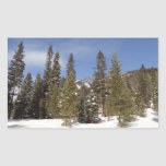 Montana Mountain Trails in Winter Landscape Photo Rectangular Sticker