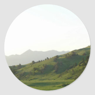 Montana Mountain Vista Classic Round Sticker
