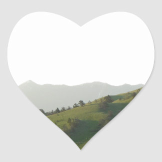 Montana Mountain Vista Heart Sticker