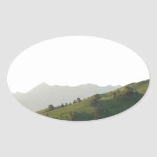Montana Mountain Vista Oval Sticker