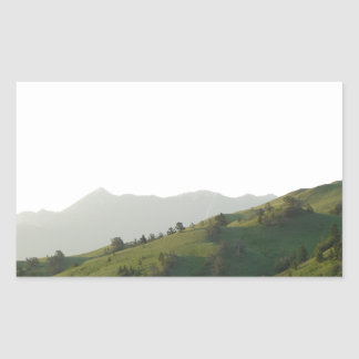 Montana Mountain Vista Rectangular Sticker
