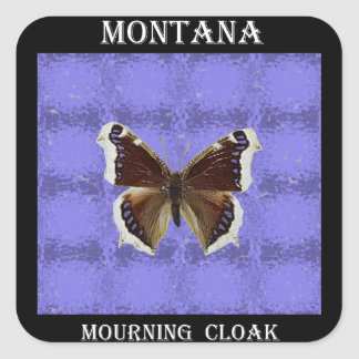 Montana Mourning Cloak Butterfly Square Sticker