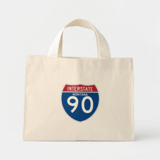 Montana MT I-90 Interstate Highway Shield - Mini Tote Bag