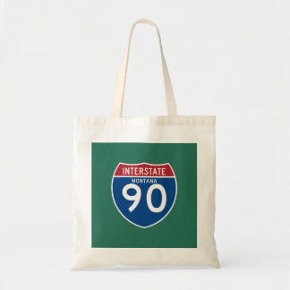 Montana MT I-90 Interstate Highway Shield - Tote Bag