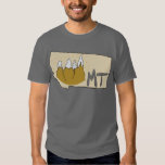 Montana MT Map & Rocky Mountains Cartoon Art T-shirt