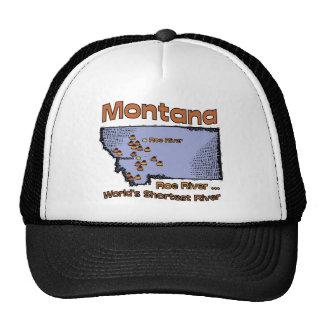 Montana MT US Motto ~ Worlds Shortest River Trucker Hat