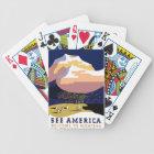 Montana MT US USA Vintage Travel Playing Cards