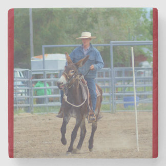 Montana Mule Days Stone Coaster