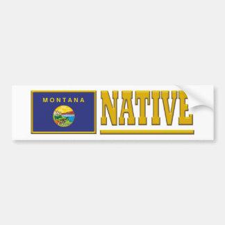 Montana Native Car Bumper Sticker