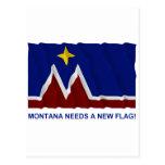 Montana Needs a New Flag Postcard